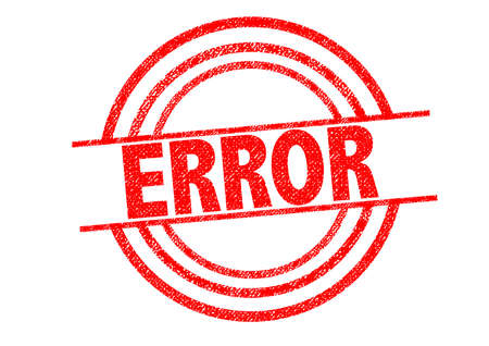 flawed: ERROR Rubber Stamp over a white background. Stock Photo