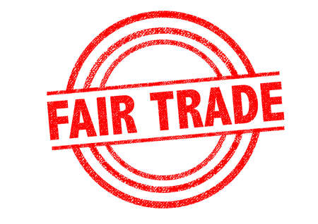 fair trade: FAIR TRADE Rubber Stamp over a white background.