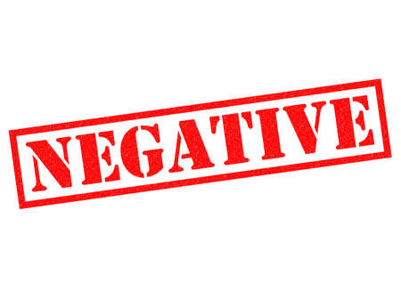 disapproval: NEGATIVE red Rubber Stamp over a white background.