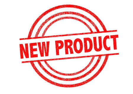 NEW PRODUCT Rubber Stamp over a white background.