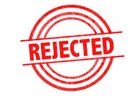 returned: REJECTED Rubber Stamp over a white background. Stock Photo