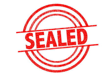 sealed: SEALED Rubber Stamp over a white background.