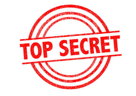 concealed: TOP SECRET Rubber Stamp over a white background. Stock Photo