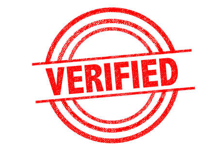 legitimate: VERIFIED Rubber Stamp over a white background.
