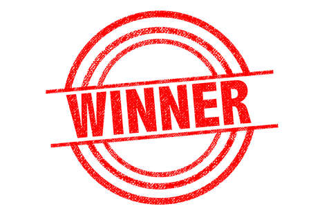 won: WINNER Rubber Stamp over a white background.