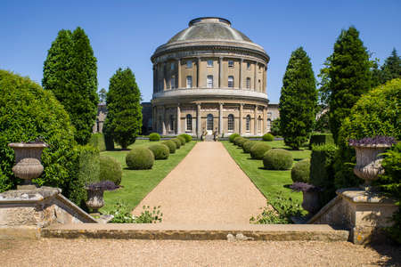 bury: BURY ST EDMUNDS, UK - JULY 19TH 2016: A view of the beautiful Ickworth House and gardens in Suffolk, on 19th July 2016.