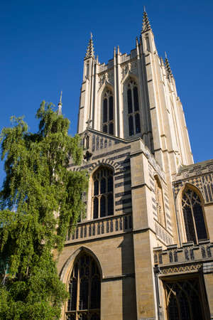 bury: A view of St. Edmundsbury Cathedral in Bury St. Edmunds, Suffolk. Stock Photo