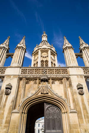 CAMBRIDGE, UK - JULY 18TH 2016: A view of the magnificent Gate House of Kings College in Cambridge, on 18th July 2016.