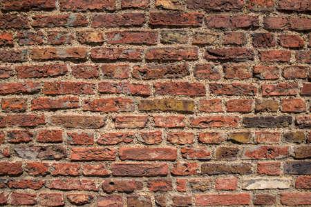 A close-up shot of a brick wall. Stock Photo