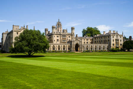 A view of the historic St. John's College in Cambridge, UK.