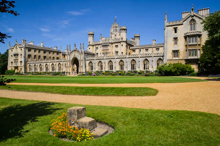 A view of the historic St. John's College in Cambridge, UK. Editorial