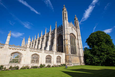 A beautiful view of King's College Chapel in Cambridge, UK. 에디토리얼