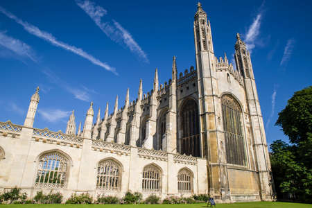 CAMBRIDGE, UK - JULY 18TH 2016: A view of the magnificent architecture of Kings College Chapel in Cambridge, on 18th July 2016. Editorial