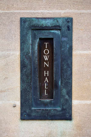 mailed: The letterbox on the exterior of Oxford Town Hall in oxford, England.