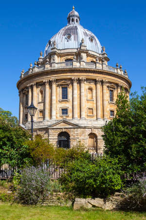 A view of the magnificent architecture of Radcliffe Camera designed by James Gibbs - the building is part of Oxford University. Stock Photo