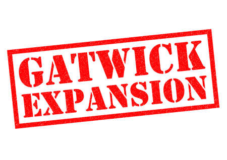 GATWICK EXPANSION red Rubber Stamp over a white background.