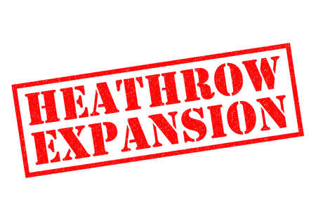 HEATHROW EXPANSION red Rubber Stamp over a white background.