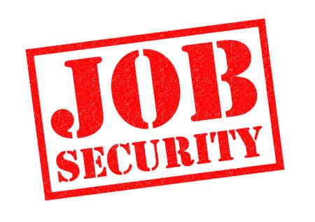 seguridad en el trabajo: SEGURIDAD EN EL EMPLEO sello de goma de color rojo sobre un fondo blanco.