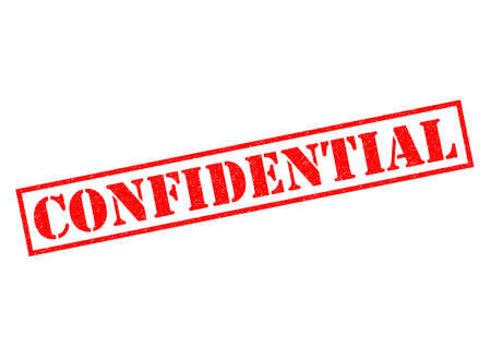 CONFIDENTIAL red Rubber Stamp over a white background.