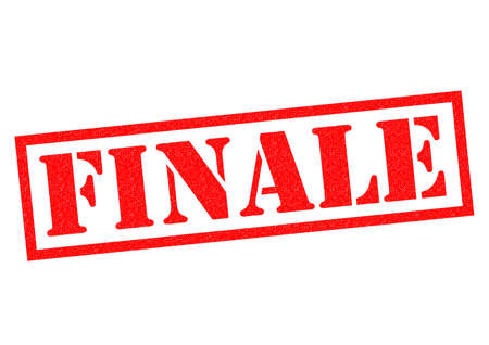 finale: FINALE red Rubber Stamp over a white background.