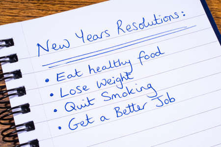 new years resolutions: A list of New Years Resolutions.