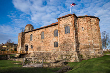 A view of the famous Colchester Castle in the historic town of Colchester, UK.