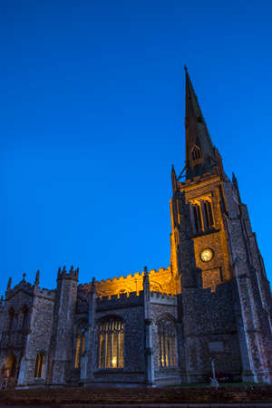 st john: The magnificent Parish church of St. John in Thaxted, Essex. Stock Photo