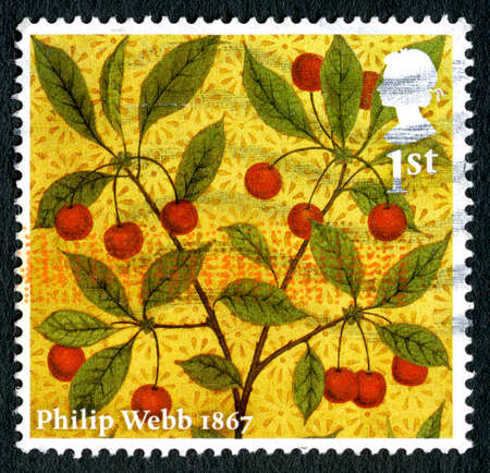 GREAT BRITAIN - CIRCA 2011: A used postage stamp from the UK, depicting an 1867 artwork by Philip Webb, circa 2011.