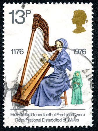 GREAT BRITAIN - CIRCA 1976: A used postage stamp from the UK, celebrating the Royal National Eisteddfod of Wales, circa 1976.