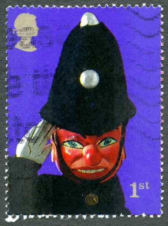 GREAT BRITAIN - CIRCA 2001: A used postage stamp from the UK, celebrating the Punch and Judy Puppet Show, circa 2001.
