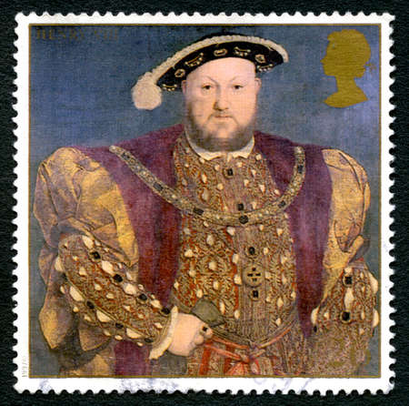 viii: GREAT BRITAIN - CIRCA 1997: A used postage stamp from the UK, depicting a portrait of King Henry VIII, circa 1997.