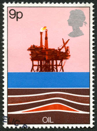 UNITED KINGDOM - CIRCA 1978: A used British Postage Stamp commemorating the use of Oil as an Energy Resource, circa 1978. Editorial