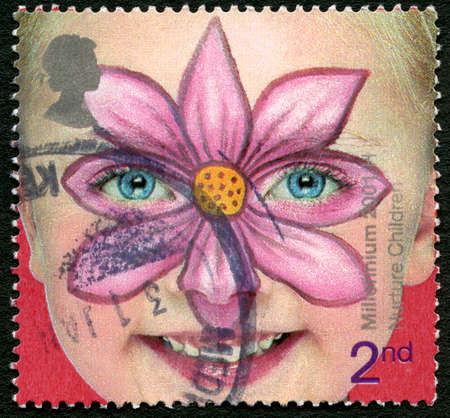 GREAT BRITAIN - CIRCA 2001: A used postage stamp from the UK, promoting the Nurturing of Children, circa 2001.