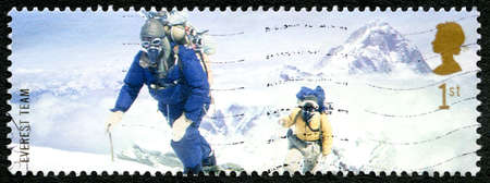mount everest: GREAT BRITAIN - CIRCA 2003: A used postage stamp from the UK, commemorating the 1953 British Mount Everest Expedition, circa 2003. Editorial