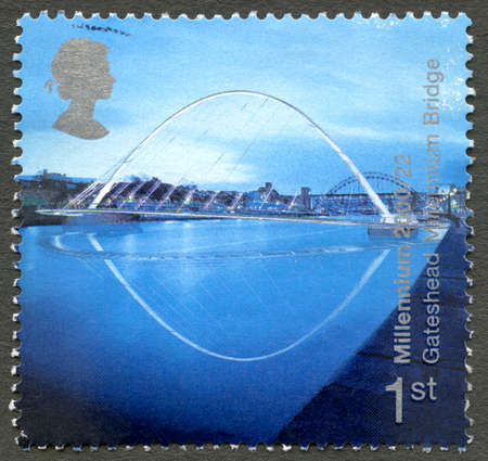 GREAT BRITAIN - CIRCA 2000: A used postage stamp from the UK, celelbrating the Ordnance Survey Map, circa 2000.