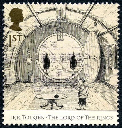 GREAT BRITAIN - CIRCA 2004: A used postage stamp from the UK, celebrating the epic fantasy The Lord of the Rings novels by J R R Tolkien, circa 2004. Editorial