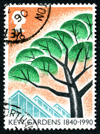 GREAT BRITAIN - CIRCA 1990: A used postage stamp from the UK, released to commemorate the 50th Anniversary of Kew Gardens, circa 1990. Editorial