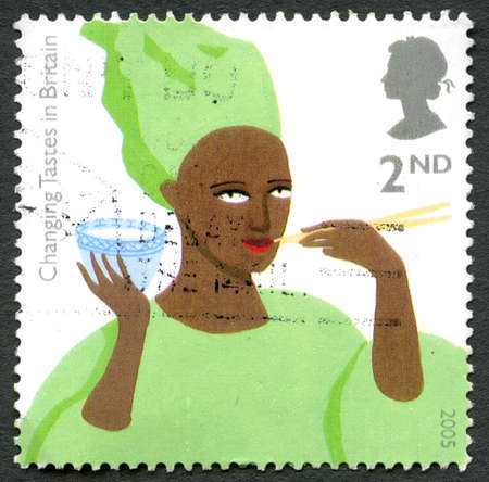 GREAT BRITAIN - CIRCA 2005: A used postage stamp from the UK, commemorating Changing Tastes in Britain, circa 2005.