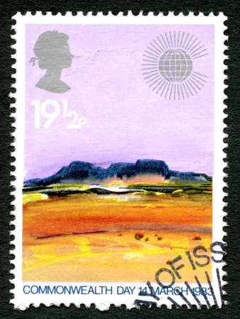 GREAT BRITAIN - CIRCA 1983: A used postage stamp from the UK, celebrating Commonwealth Day held on 14th March 1983, circa 1983.