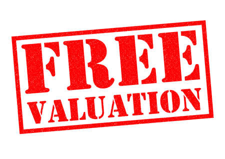 valuation: FREE VALUATION red Rubber Stamp over a white background.