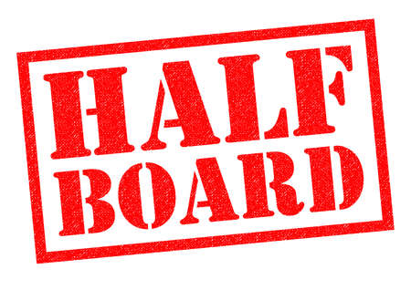 HALF BOARD red Rubber Stamp over a white background. Stock Photo