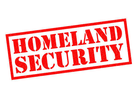 homeland: HOMELAND SECURITY red Rubber Stamp over a white background.