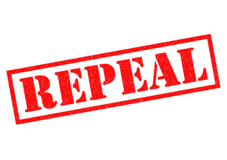 REPEAL red Rubber Stamp over a white background.