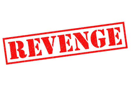 venganza: REVENGE red Rubber Stamp over a white background.