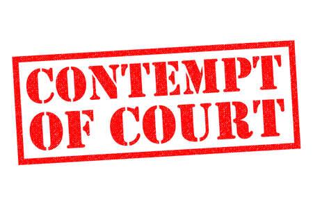desprecio: CONTEMPT OF COURT red Rubber Stamp over a white background.