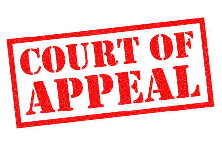 COURT OF APPEAL red Rubber Stamp over a white background.