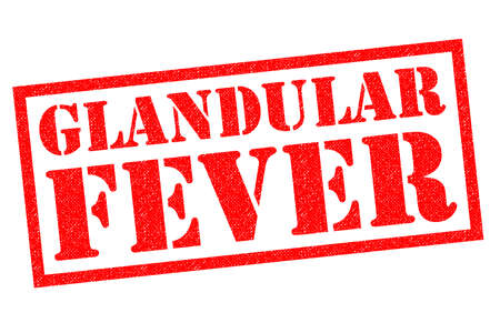 GLANDULAR FEVER red Rubber Stamp over a white background.