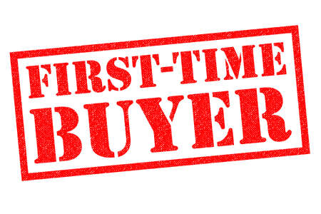 FIRST-TIME BUYER red Rubber Stamp over a white background.