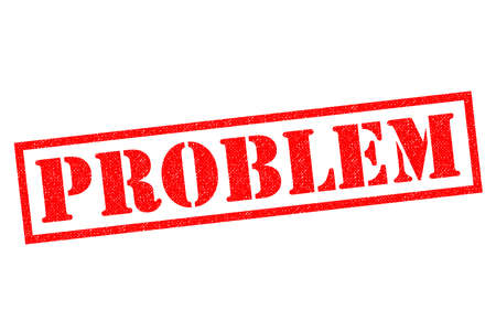 PROBLEM red Rubber Stamp over a white background.