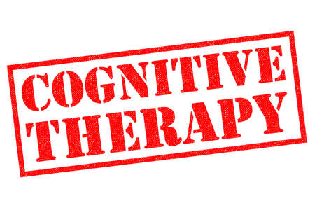 behavioral: COGNITIVE THERAPY red Rubber Stamp over a white background.
